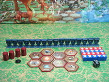 Heroscape RotV Accessories - Red & Blue Dice, Glyphs, Order & Wound Markers