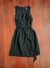 New H&M Black Dress Side Ruffle Size 2 - Perfect little black dress