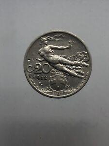 Vittorio Emanuele III 20 Centesimi Liberta' Librata 1912 BB
