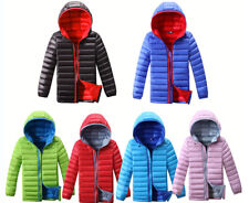 Winter Duck Down Snowsuit Kids Boys Girl Coat Hooded Lightweight Quilted Jacket
