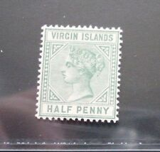 BRITISH VIRGIN ISLANDS 1883 QV 1d SG 27b with Top left triangle detached MNH