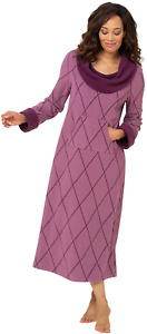 PajamaGram Long Nightgown Womens Soft - Fleece Nightgown for Women