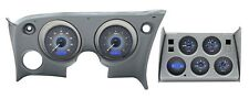 1968-1977 Corvette Carbon Fiber / Blue Dakota Digital VHX Metric KPH Gauge Kit