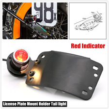 1×Motorcycle LED Cafe Racer Metal Brake Side License Plate Stop Retro Tail Lamp