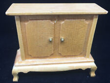 Dollhouse Doll House Blonde Light Wood Cabinet TV Console Buffet Credenza Mini