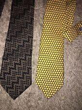 2 X Men's Ties T M Lewin & Hugo Boss BOSS Excellent Condition Silk Seide