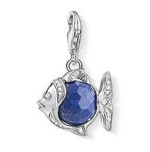 Brand New Genuine Thomas Sabo Sterling Silver Blue Fish Charm 1215 RRP £60.00