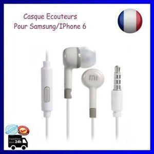 Earpods Casque Écouteurs 3.5 Xiaomi MICRO Oreillette pour Samsung IPhone 6 Blanc