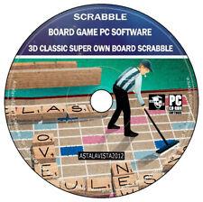 Scrabble 3D-Clásico superscrabble-Scrubble propias placas Juego de PC para Windows -