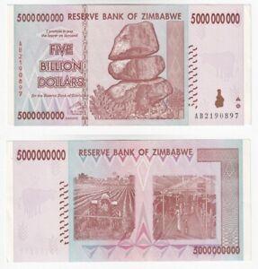 ZIMBABWE 5 Billion Dollars (2008) P.84 - UNC.