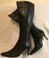 Jones Bootmaker Black Knee High Leather Beautiful Boots Size 40 (796vv)