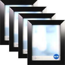 """Black 8"""" x 10"""" Frame, Set of 4, Wide Bevel"""
