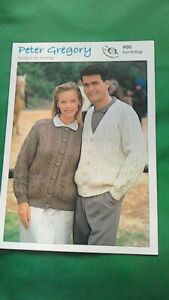 knitting pattern for  ladies and Man's  Aran cardigans  size 32 to 46