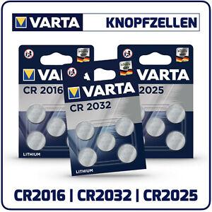 10x VARTA Lithium Knopfzellen 3,0V Blister Verpackung CR2032 CR2025 CR2016