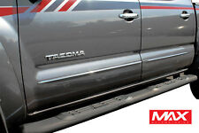 BS3831 05-15 Toyota Tacoma Crew Chrome Streamline Side Door Body Molding Trim