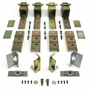 Complete 2 Door Street Rod Hot Rod Adjustable Suicide Hidden Door Hinge Kit