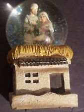 Tii Collections Mary Joseph Jesus Musical Snow Globe Nativity Scene
