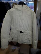 North Face Greenland Womens Down filled waterproof Jacket Parka Cream Size M 12