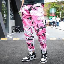 Mens Boy Camo Loose Fit Trousers Cargo Overalls Casual Hip-hop Harem Pants Hot