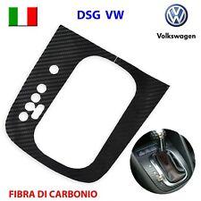 Pellicola in fibra di carbonio Pomello cambio cuffia pelle DSG VW GOLF 6 VI