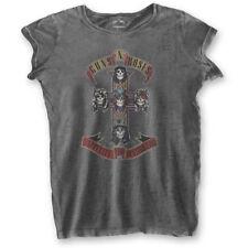 Guns N' Roses 'Appetite for Destruction' Womens Burnout T-Shirt - NEW & OFFICIAL