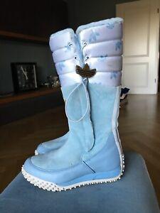 Adidas Originals Wildleder Boots Stiefel RARE Snow CHIC HI Gr. 37 Hellblau 2005