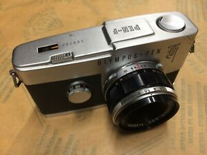 Olympus Pen F half frame film camera with 38mm lens