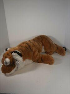 "FAO Schwarz 28"" Soft Plush Tiger Orange Black White Toys R Us #5F5F65D"