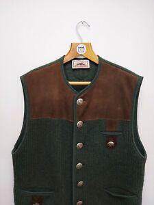 Vintage Tracht & Country Kitz Pichler Wool Vest Bodywarmer Gilet - Large - L