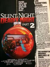 Silent Night Deadly Night, Part Two, Full Page Vintage Promotional Ad