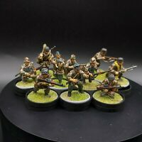 Well Painted 28mm Bolt Action Ww2 german Fallschirmjager Squad #1 warlord games