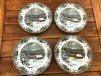 """The Friendly Village JOHNSON BROTHERS School House Dinner Plates 10"""""""