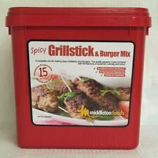 Middleton Foods 🌾 SPICY GRILLSTICK & BURGER MIX Seasoning Mix 2.5kg Red Tub