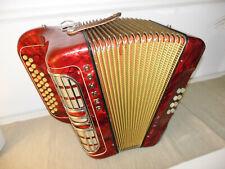 Schönes Knopfakkordeon/Handharmonika HOHNER CLUB III M - 3-chörig