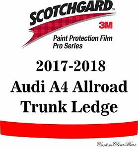 3M Scotchgard Paint Protection Film Pro Series Clear 2017 2018 Audi A4 Allroad