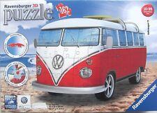RAVENSBURGER VW VOLKSWAGEN T1 CAMPER VAN 3D JIGSAW PUZZLE 162PC - NEW & SEALED!