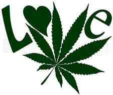 Love Marijuana Vinyl Decal Sticker Car Laptop Window Decor Wall Art Weed Ganja