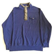 Vintage Polo Ralph Lauren 2XLT TALL 3/4 Zip Pullover Mens H7