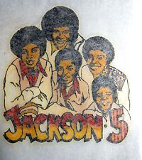 "VINTAGE ""JACKSON 5"" IRON-ON TRANSFER"