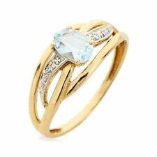 bague or 18k aigue-marine ring gold 18 k aquamarine