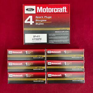 Set of 6: New OEM Ford Motorcraft Finewire Platinum Spark Plugs SP-411 AYFS22FM
