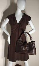 Kenneth Cole Large Brown Leather Shoulder Bag Purse