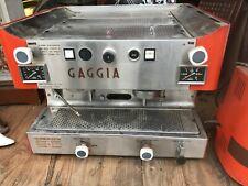 Machine et Moulin Café Vintage GAGGIA professionnelle FAEMA années 70, Orange