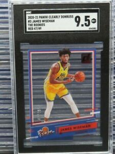 2020-21 Clearly Donruss James Wiseman The Rookies Red RC #47/49 SGC 9.5 Y6
