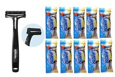 10x Gillette Guard Razors and 10 Cartridges Safety Travel Razor Men Free Ship