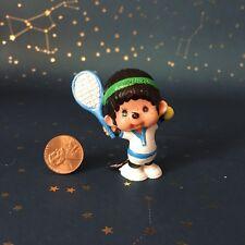 Vtg Monchichi Mini Pvc Figure Cake Topper Tennis Player