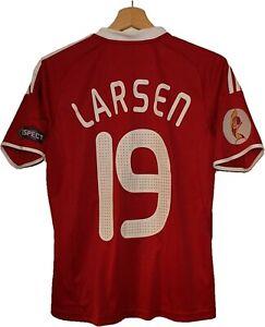MATCH WORN #19 LARSEN DENMARK 2009 EURO WOMEN Football SHIRT Jersey ADIDAS sz M