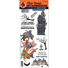 Art Impressions Happy Haunting Stamps - Halloween, Haunted House, Spooky Trees
