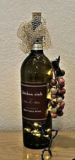 """Decorative lighted red table wine bottle 12"""" tall lights! Unique Holiday"""