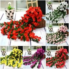 Artifical Hanging Fake Flowers Wedding Home Decoration Ivy Vine Garland PlantNew